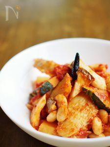 手羽と大豆のフライパン・トマト煮込み
