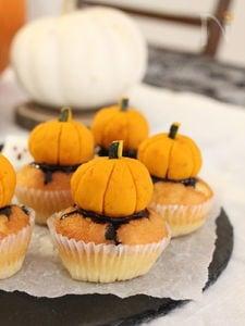 レンジで出来る♪かぼちゃのカップケーキ