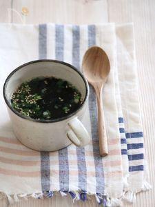 即席焼き海苔カップスープ。