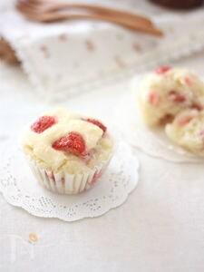 【ライスミルク×米粉】ココナッツ香る苺のカップケーキ