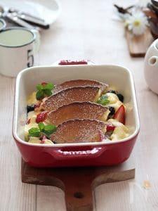 フルーツグラタン・ホットケーキ。