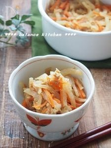 【常備菜】大根とツナのきんぴら