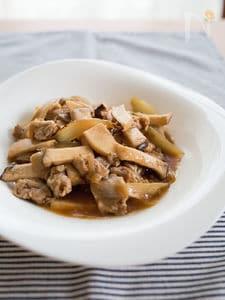 豚肉とエリンギの黒酢あん炒め