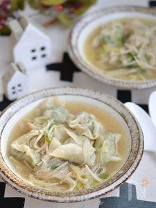 リメイク♪きのこのヘルシー餃子スープ