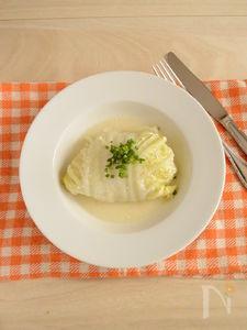 ロール白菜の豆乳煮