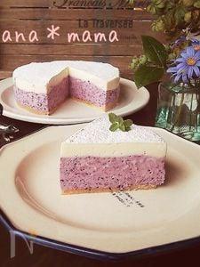 ミキサーで1発♪ブルーベリーレアチーズケーキ♪