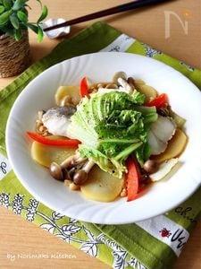 レンジで5分*鱈と白菜のバター醤油蒸し