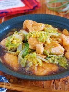 重ねて放置♪お肉柔らか『鶏むね肉と白菜の中華風♡とろうま煮』