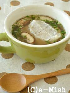 【餅アレンジ】餅入りお葱たっぷりゆず胡椒スープ