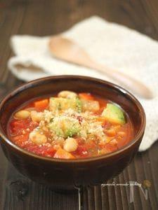 根菜とアボカドの具沢山☆和風ミネストローネ