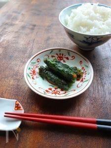 【作り置き】ピリ辛にんにく味噌とくるみの大葉巻き