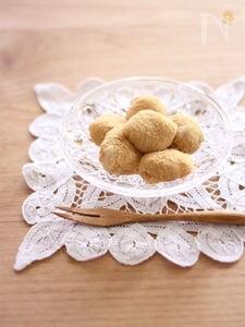 フライパンで簡単和菓子♪もち粉のわらびもち風