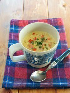 マグカップで作る豆乳カレースープごはん