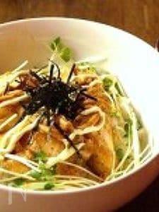 鶏マヨキムチ炒め丼