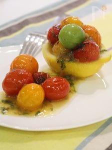 レモン香る トマトの梅しそマリネ
