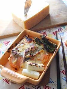 鮭のパルミジャーノ西京焼きグリル。