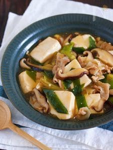フライパンで10分♪男子も喜ぶ♪『豚バラ豆腐の和風とろみ煮』