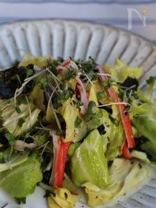 春野菜で塩キャベツ