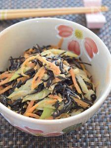 ひじきとにんじんのゴマ味噌マヨネーズ
