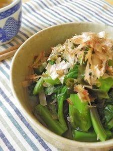 【夏の養生常備菜】美腸に。つるむらさきと若芽のお浸し