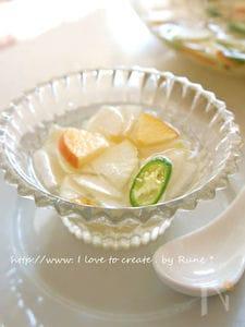 10分で食べれる★大根のレモン水キムチ風