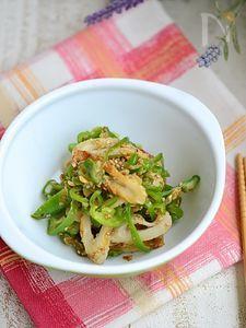 ピーマンと竹輪の味噌炒め【作りおき】
