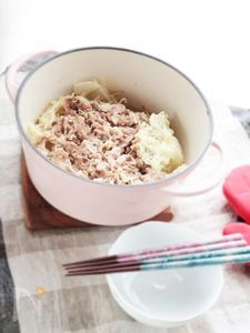 白菜と豚こま肉の重ね煮