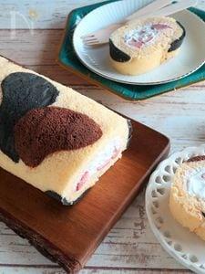 ふわふわ三毛猫ロールケーキ