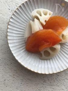 柿と蓮根のピクルス