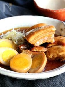 豚の角煮と煮玉子(動画あり)