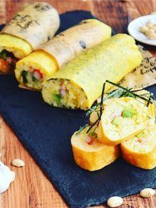 卵焼き器でふんわり温か〜!卵焼き巻き寿司☆
