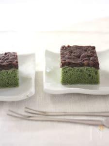 【ライスミルク×米粉】よもぎのあんこのっけケーキ