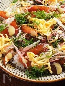 漬けブリの海鮮ちらし寿司