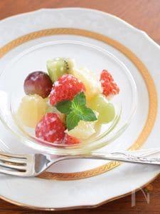フルーツと甘酒のオードブル 風邪で喉が痛い時のデザートに♪