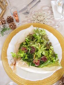 生ハムのグリーンブーケサラダ