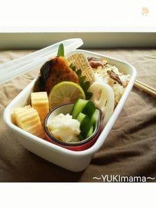 ほっこり和風~ぶりのてりやき(作りおき)のお弁当~