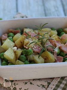 春野菜~グリンピースと新じゃが、ベーコンのおつまみ