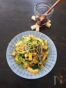 豆苗と油揚げのサラダ風