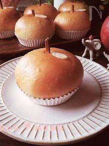 レンジ発酵であっという間に♪ふわんふわんのりんごパン♪
