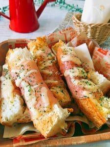 おつまみ★ 生ハムとバケットのステックトースト