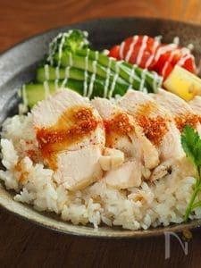 カオマンガイ風フライパンご飯