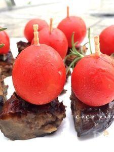 〜プチトマトと米なすの肉味噌詰めピンチョス〜