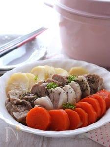 ヘルシー蒸し豚と温野菜