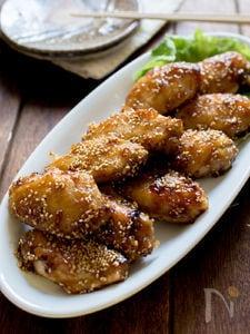 揚げずに名古屋の手羽先風甘辛焼きと鶏スープセット
