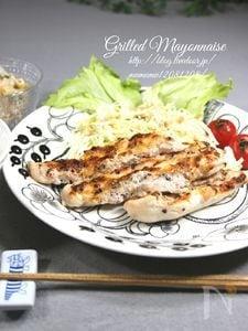 オーブンにお任せ! 鶏ささみのマヨネーズ焼き・七味風味。