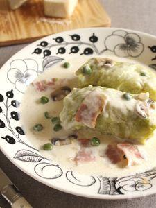 チーズクリームソースのロール春キャベツ