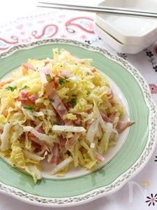 白菜のシャカシャカサラダ【ベーコン&粉チーズ】