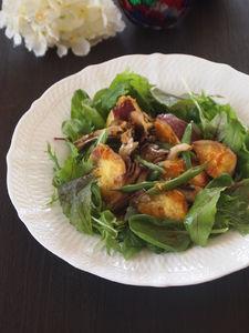 ココナッツオイルのホットサラダ
