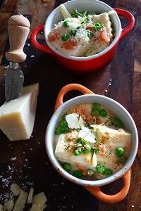 焼くだけ簡単 豆腐とたらこのパルミジャーノグラタン