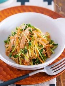 春雨サラダのヘルシー版♪『豆苗と糸こんにゃくの中華サラダ』